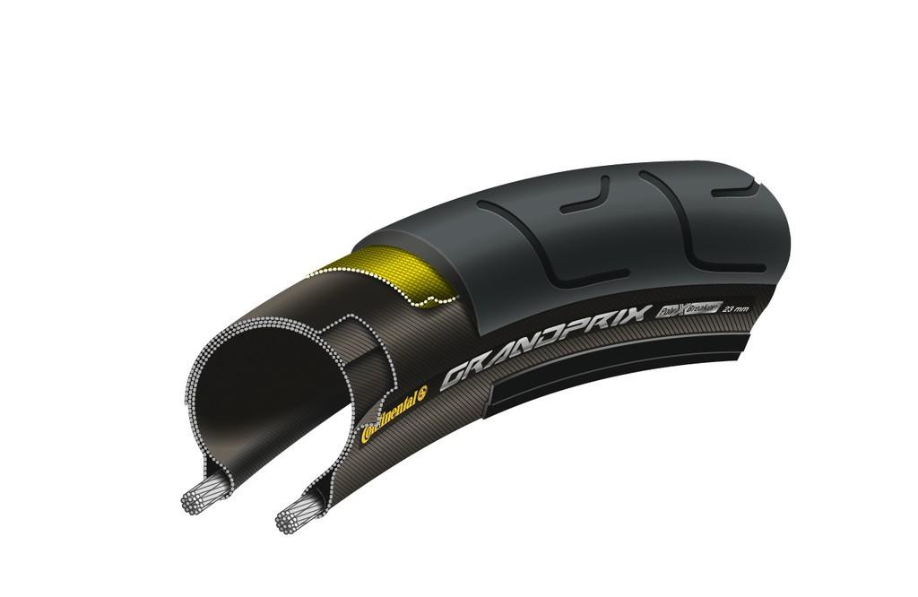 Copertone Conti Grand Prix pieghevole 28'' 700x28C 28-622 nero/Skin nero