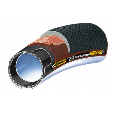"""Copert.tubolare Conti Sprinter Gatorskin 28""""x22mm(27x1"""") Dura Skin nero"""