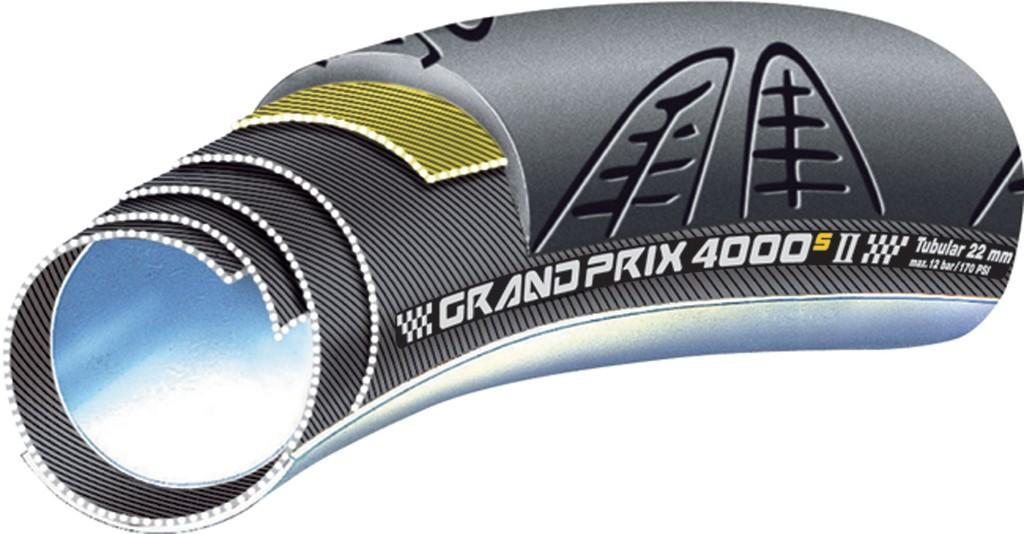 """Copert.tubolare Conti GP 4000 S II tub. 28""""x22mm (27x1"""") Skin nero/nero"""