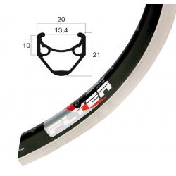 """Cerchio Rigida Flyer 28"""" nero 622-13 VL 6,5 mm 32 fori, senza asole"""