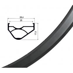 """Cerchio Ryde Trace Trail 25,Disc 27""""nero 584-25 VL 8,5 mm 32 fori,senza occhielli"""