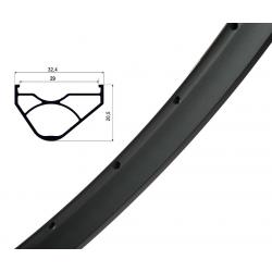 """Cerchio Ryde Trace Enduro ,Disc 27""""nero 584-29 VL 8,5 mm 32 fori,senza occhielli"""