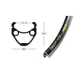 "cerchione Exal XR 1 28"" nero 559-19 buco p.val.6,5 mm,36 buchi,c.occ."