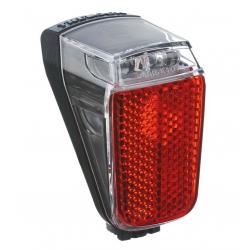 Fanale posteriore LED a dinamo Trelock Duo Top LS 633, colore nero, luce di posizione