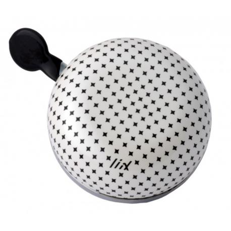 Ding Dong Bike Bell Diamond Dot White
