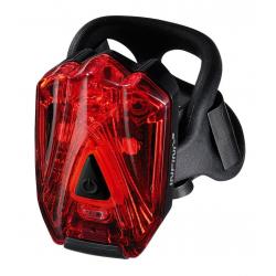 Fanale posteriore Minibeamer Infini I-260, colore nero con presa USB
