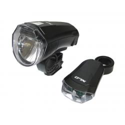Set di luci a batteria XLC LED CL-S14, colore nero