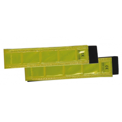 Coppia fasce riflettenti gialle, larghezza 25 mm