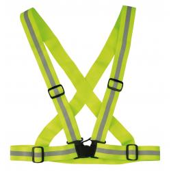 Cinghia riflettente Wowow Cross Belt Giallo, elastica, regolabile