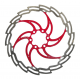 Disco ISO freno XLC Ø 160 mm argento/rosso