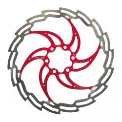 Disco ISO freno XLC Ø 180 mm argento/rosso