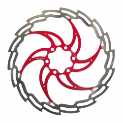 Disco ISO freno XLC Ø 203 mm argento/rosso