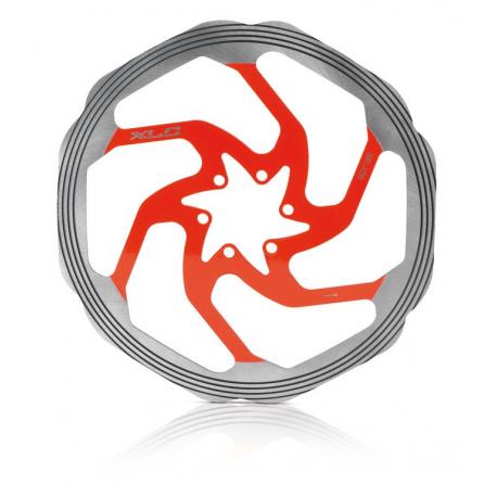 disco freno BR-X58 Ø 203mm arg./rosso c.anello CNC di friz