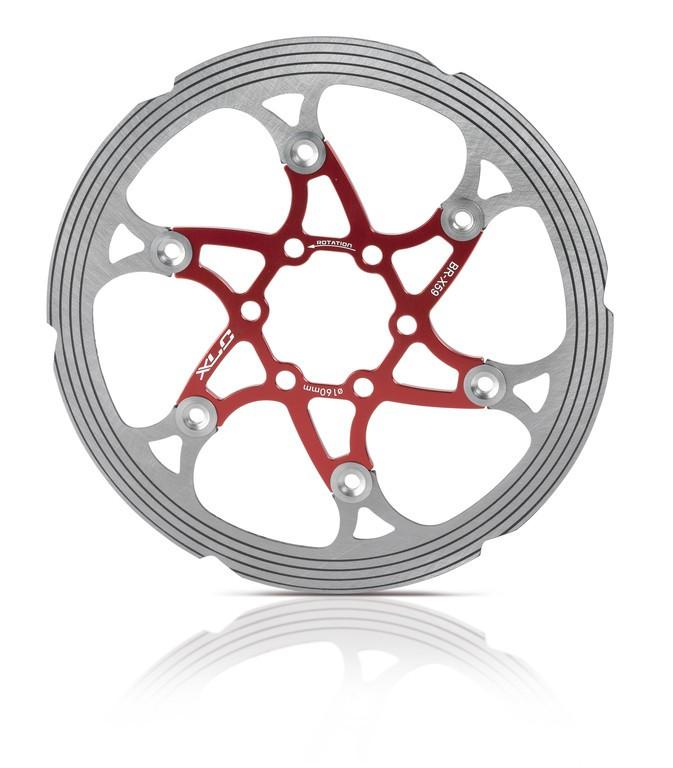 disco ISO freno BR-X59 Ø 203mm rosso/arg. c.anello CNC di friz