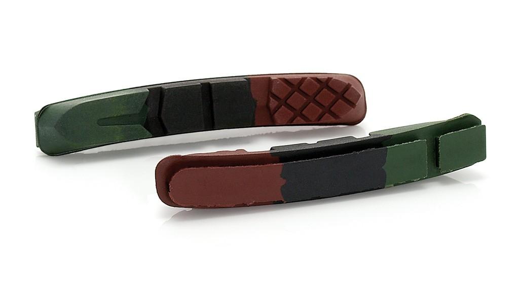 XLC pattinidi ricambio per V-Brake CartridgeRP-V01, set 4 pezzi, 3 colori, 72 mm