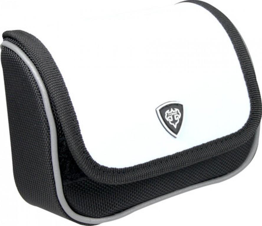 Borsa manubrio T-One Carry on Nylon/similpelle, bianco, 120x100x50mm