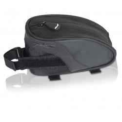 XLC borsa per tubo orizzontale BA-S61 Nera/antracite, 16x6x9cm, 0,55 litri