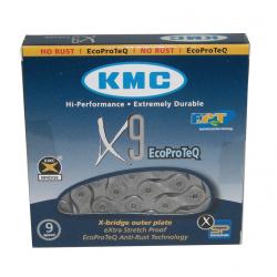 """Catena circuito KMC X-9 EPT Antiruggine 1/2"""" x 11/128"""", 116 Glieder,6,6mm,9-fach"""