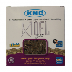Catena KMC X-10-EL-oro 114 maglie 5,9 mm 10 vel., rinforzato