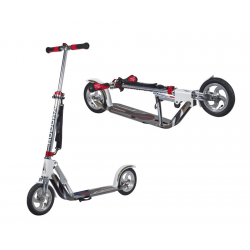 "City ScooterBig Wheel Air Hudora allu 8"" Air205 bianco/argento 205mm"