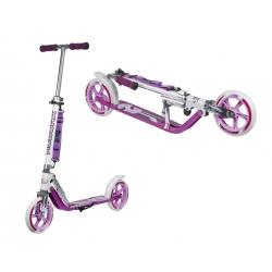"City Scooter Big Wheel Hudora allu 8"" GC205 fucsia/argento 205mm (girly-color)"