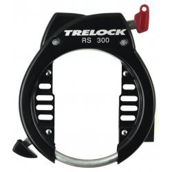 Antifurto p.telaio Trelock,mont. diretto RS 300 NAZ nero,chiave non rimovibile