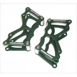 Piastra ricambio Xpedo 'Faceoff' MX 13 verde, per un pedale