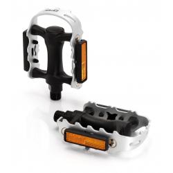 pedale XLC,PD-M01 gabbia di acciaio corpo di plastica colore nero/argento, SB Plus