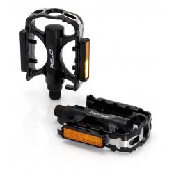 pedale XLC PD-M02 corpo di alluminio nero, gabbia CNC, SB Plus