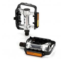 pedale XLC PD-M03 alluminio colore argento ,gabbia di alluminio nero,SB Plus