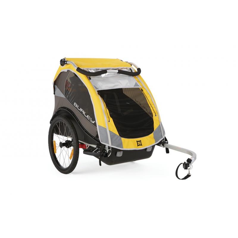 rimorchio bici trasp bimbi burley cub modello 2016 giallo. Black Bedroom Furniture Sets. Home Design Ideas