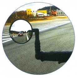 Specchio da bici X-Safe in plastica, fissaggio all'estremità del manubrio