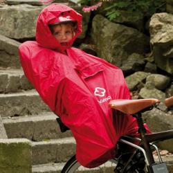 Poncho antipioggia Hamax rosso, per bambini nel seggiolino