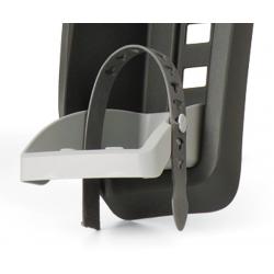 Coppia poggiapiedi con cinghia Polisport per Guppy Mini, grigio