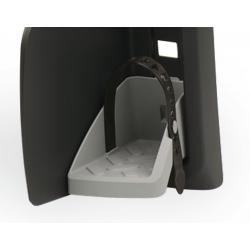Coppia poggiapiedi con cinghia Polisport per Guppy Maxi, grigio