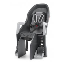 Seggiolino Polisport Guppy Maxi CFS grigio scuro/argento, fissaggio al portapacchi
