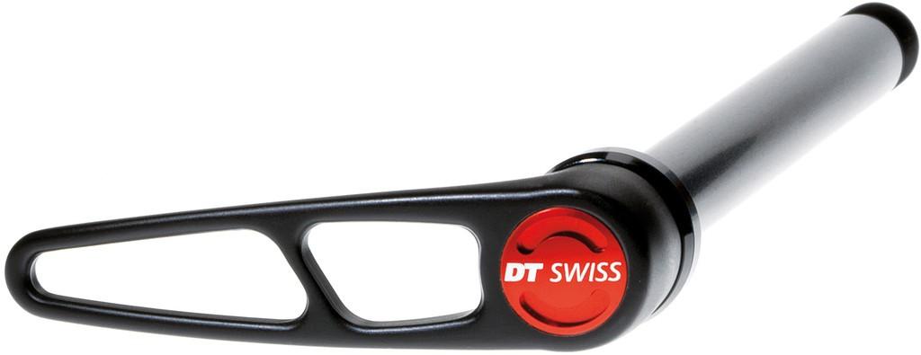 QR RP DT Swiss RWS x12 QR in allu, Ø 12mm/142mm con leva in alluminio