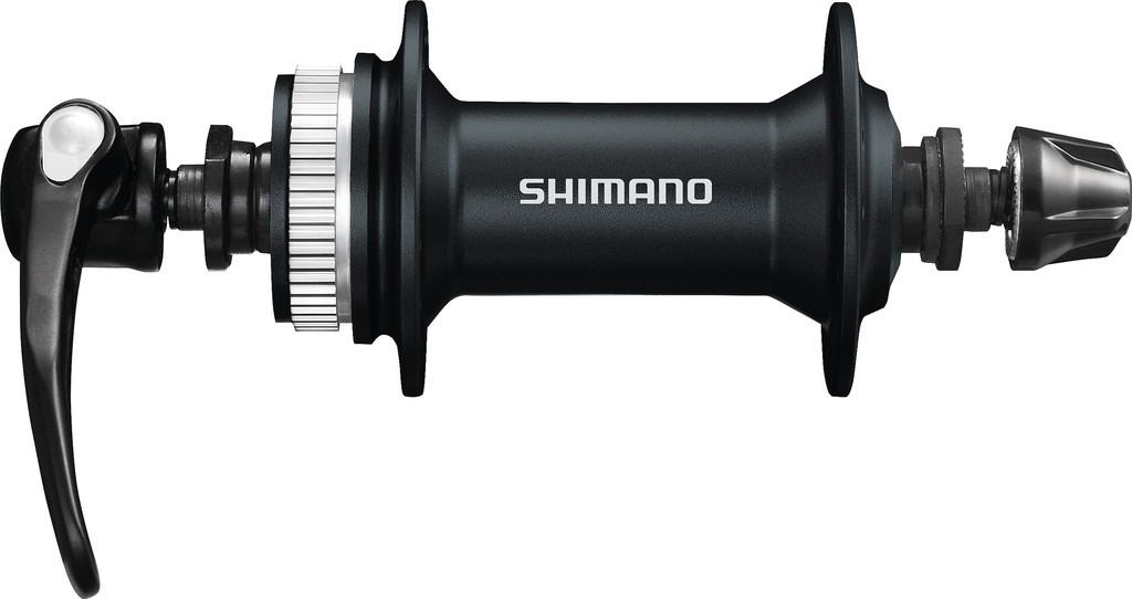 Mozzo Shimano Alivio HB-T 4050 100mm, 36 fori, nero, Centerlock, sgancio rapido