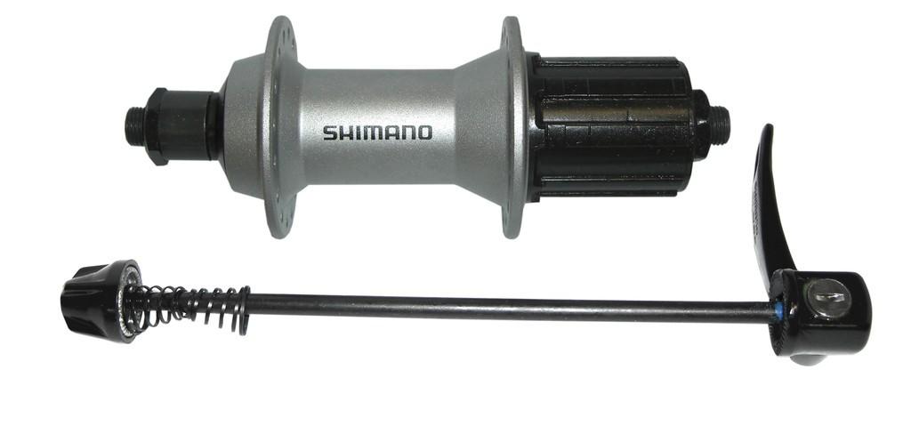 Mozzo Shimano Alivio HB-T4000 135mm, 36 fori, argento, 8/9/10-velocità con sgancio rapido