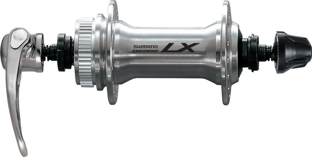 Mozzo Shimano Deore LX a sgancio rapido 100 mm HB-T 675, argento, 36 fori per Centerlock