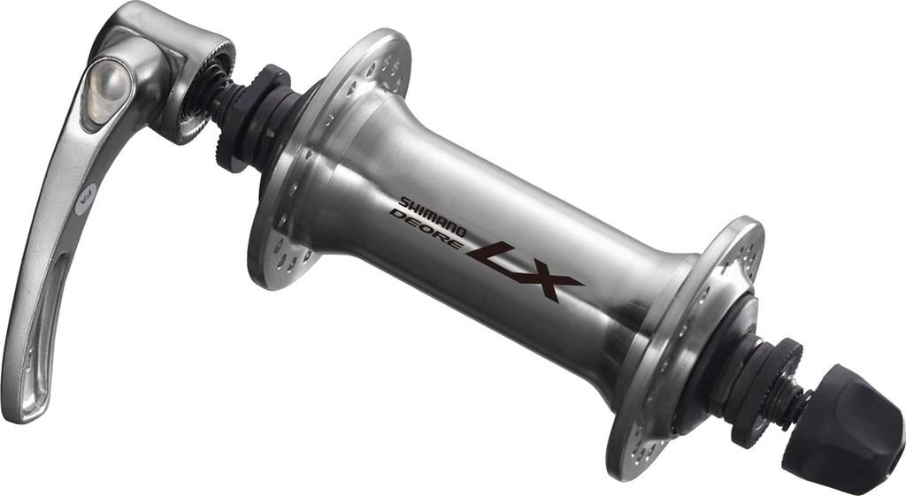 Mozzo Shimano Deore LX a sgancio rapido 100mm HB-T 670, argento, 36 fori