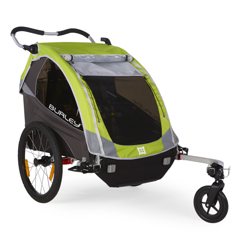 rimorchio bici trasp bimbi burley d lite modello 2016 verde. Black Bedroom Furniture Sets. Home Design Ideas