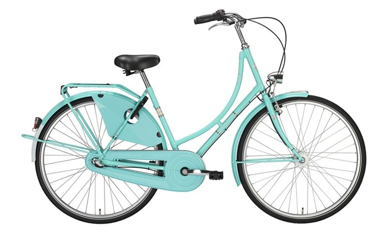 """Bici Olandese 28"""" Excelsior Classic ND 3V Shimano Nexus contropedale, Light Green"""