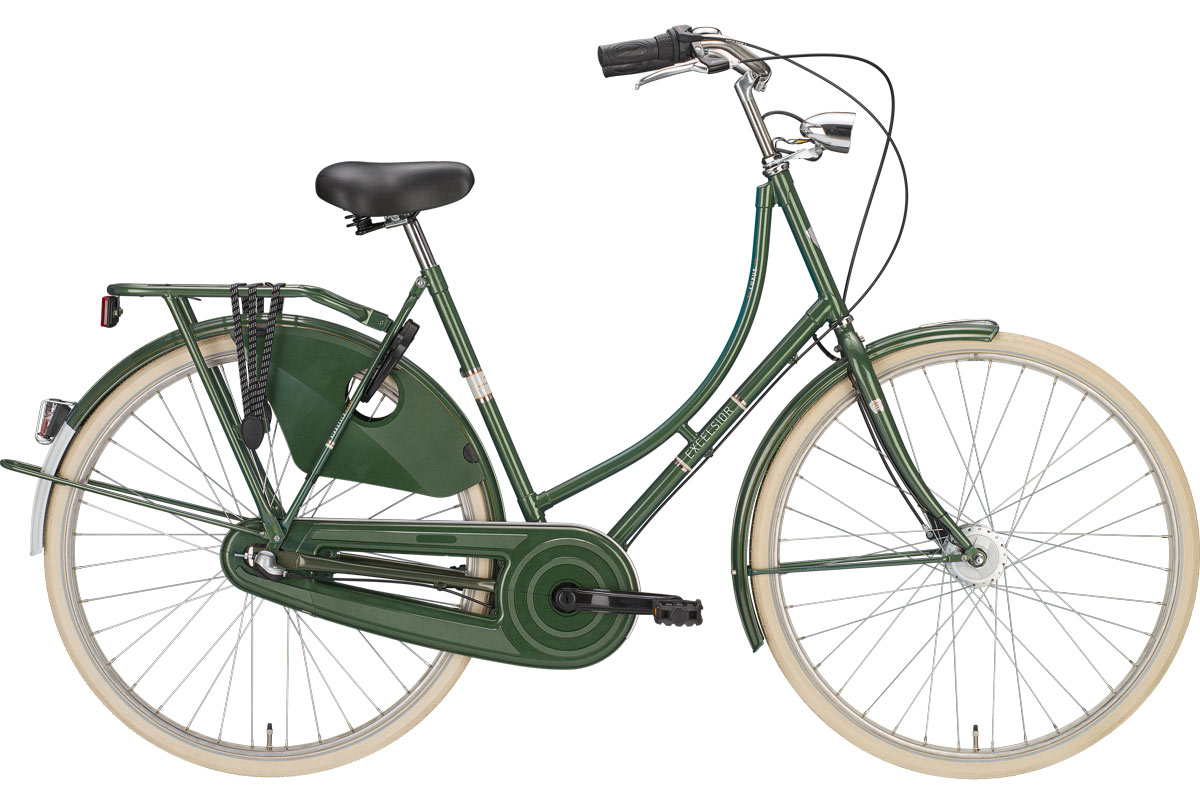 """Excelsior Luxus ND TB 28"""" 3V Shimano Nexus contropedale, Classic Green"""