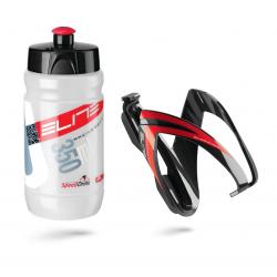 Borraccia + portaborraccia Elite Vero Thermal Ceo 350ml, bianco/rosso + nero/rosso