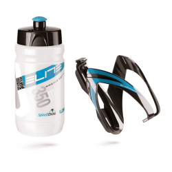Borraccia + portaborraccia Elite Vero Thermal Ceo 350ml, chiaro+blu nero/blu