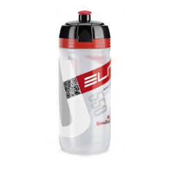 Borraccia Elite Corsa 550ml, chiaro, Logo rosso