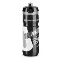 Borraccia Elite Super Corsa 750ml, nero, Logo argento