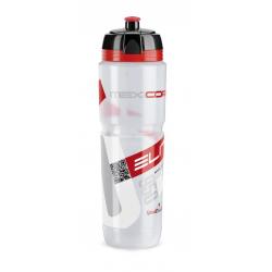 Borraccia Elite Maxi Corsa 950ml, bianco, Logo rosso