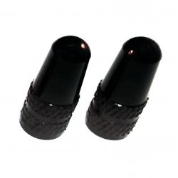Coppia tappi per valvola Sclaverand in alluminio anodizzato nero